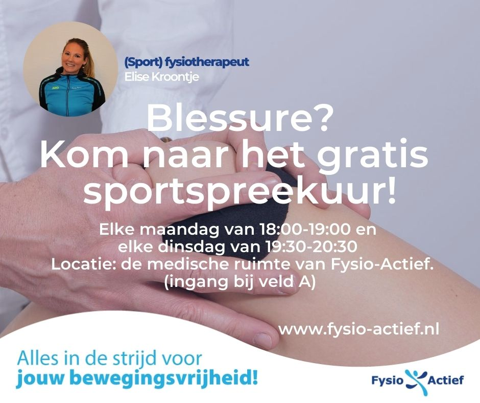 Gratis sportspreekuur Fysio-Actief